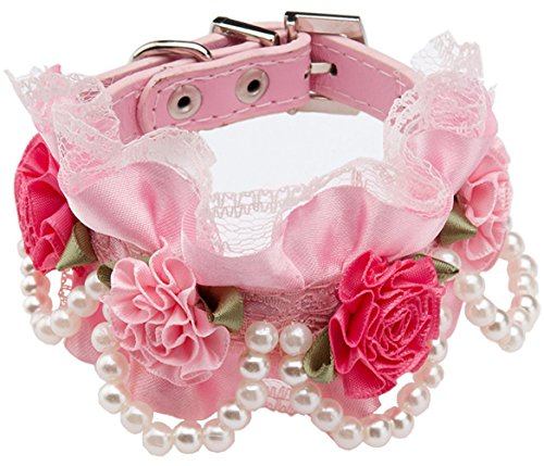 [FONPOO Fashion Cute Bling Dog Puppy Cat Pet Jewelry Collar Bow Tie Collar Pets Female Chihuahua Yorkie Girl for Small Medium Dogs Cats with Adjustable Safety] (Link Dog Costumes)