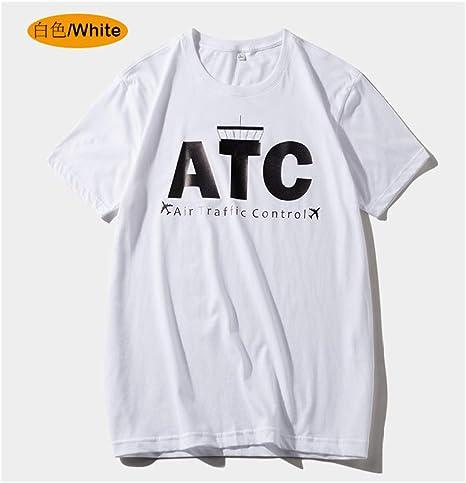 jknnw Camiseta de Manga Corta de Verano para Hombre Camisa de Fondo Ropa de algodón Ropa de Tendencia Suelta Media Manga Camiseta Blanca de Cuello Redondo: Amazon.es: Deportes y aire libre