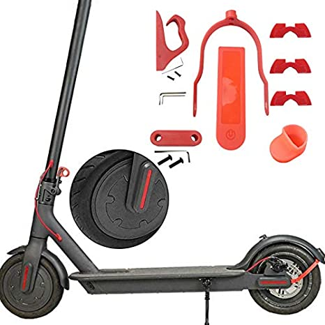 SODIAL for M365 Pro Accessories Set 6Pcs//Set for Electric Scooter Rear Wing Mudguard Shock Absorption Accessories Red