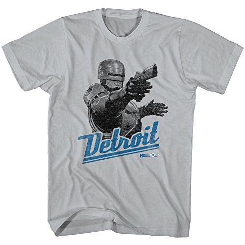 Robocop 1987 SciFi Action Movie Cyborg Police Gun Detroit White Adult T-Shirt -