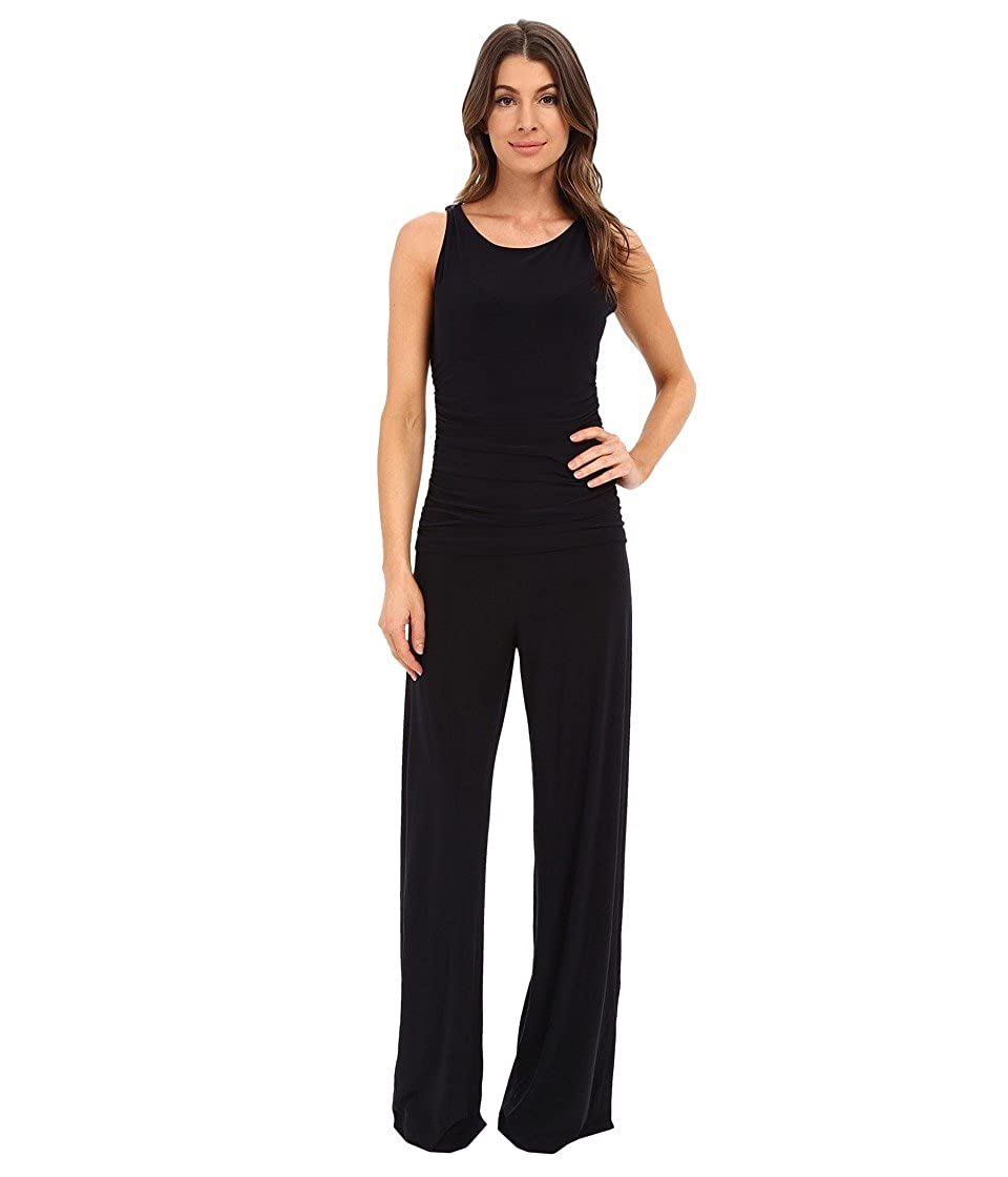 KAMALIKULTURE by Norma Kamali Womens Sleeveless Shirred Waist Jumpsuit