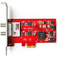 TBS DVB-T2/T/C TV Dual Terrestrial HD Low-profile PCIe TV Tuner Card