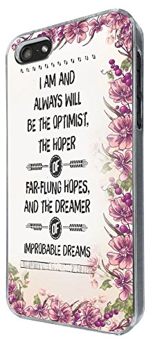 443 - I Am and always Will Be The Optimist Be The hoper Design iphone SE 5 5S Hülle Fashion Trend Case Back Cover Metall und Kunststoff