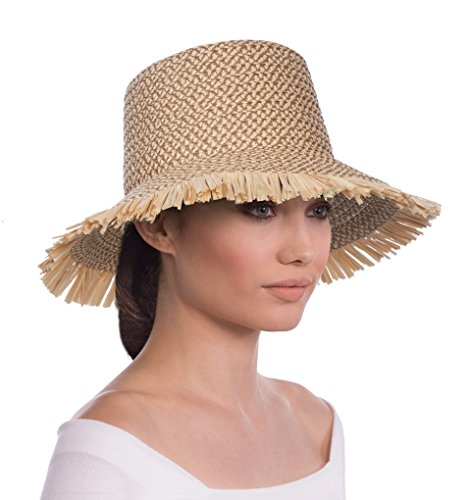 Eric Javits Luxury Fashion Designer Women's Headwear Hat - Tiki Bucket - Peanut by Eric Javits
