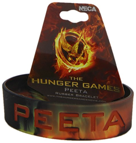 The Hunger Games Catching Fire Peeta Text Rubber Bracelet -