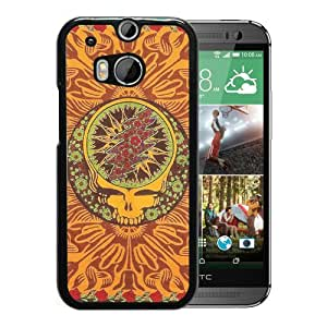 Popular Custom Designed Cover Case With grateful dead Black For HTC ONE M8 Phone Case