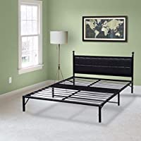 Best Price Mattress Model L-Plus Easy Set-up Steel Platform Bed Frame, Twin, Black