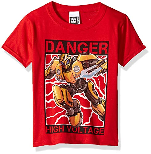 Transformers Little Bumblebee Movie High Voltage Boys T-Shirt, red, 7]()
