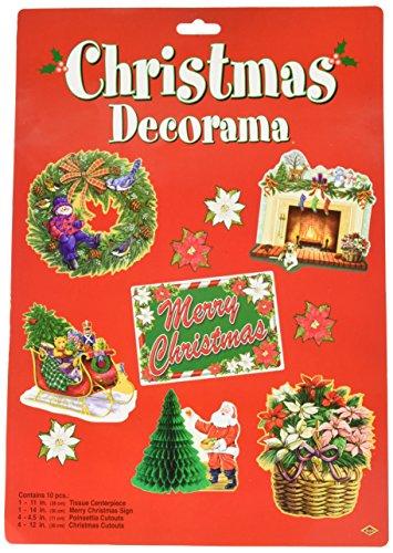 Christmas Decorama Party Accessory (1 count) (10/Pkg) (Centrepieces Winter)