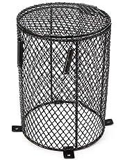 Amakunft - Protector de lámpara para calentar reptiles, protector de bombilla de calefacción de metal, protección contra el calor, protección contra quemaduras de reptiles