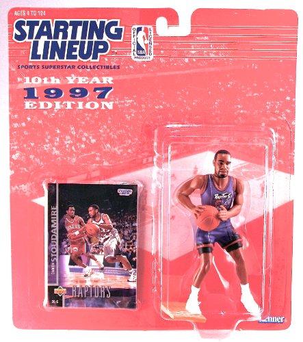 DAMON STOUDAMIRE / TORONTO RAPTORS * 1997 * NBA Kenner Starting Lineup & Exclusive TOPPS Collector Trading Card