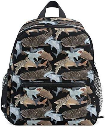 リュック サメ柄 子供 キッズ バッグ 軽量 大容量 通学 遠足 散歩 男の子 女の子 入学 お祝いプレゼント