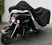 "Premium Heavy Duty Motorcycle cover (XXL) with cable & lock. Fits up to 108"" length Large cruiser, Tourer, Chopper."