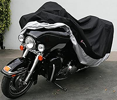 """Premium Heavy Duty Motorcycle cover (XXL) with cable & lock. Fits up to 108"""" length Large cruiser, Tourer, Chopper."""