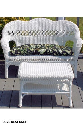 Sahara Weather Resistant Outdoor Wicker Love Seat, 41u0026quot;x17.5u0026quot ...