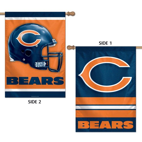 Chicago Bears 2-sided Banner Flag