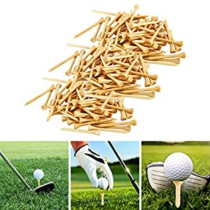 Yaegoo 1,000 Premium Bamboo Golf Tees 2-3/4 inch Length - Eco-Friendly - 7X Stronger Than Wood Tees from Duobang Fitness