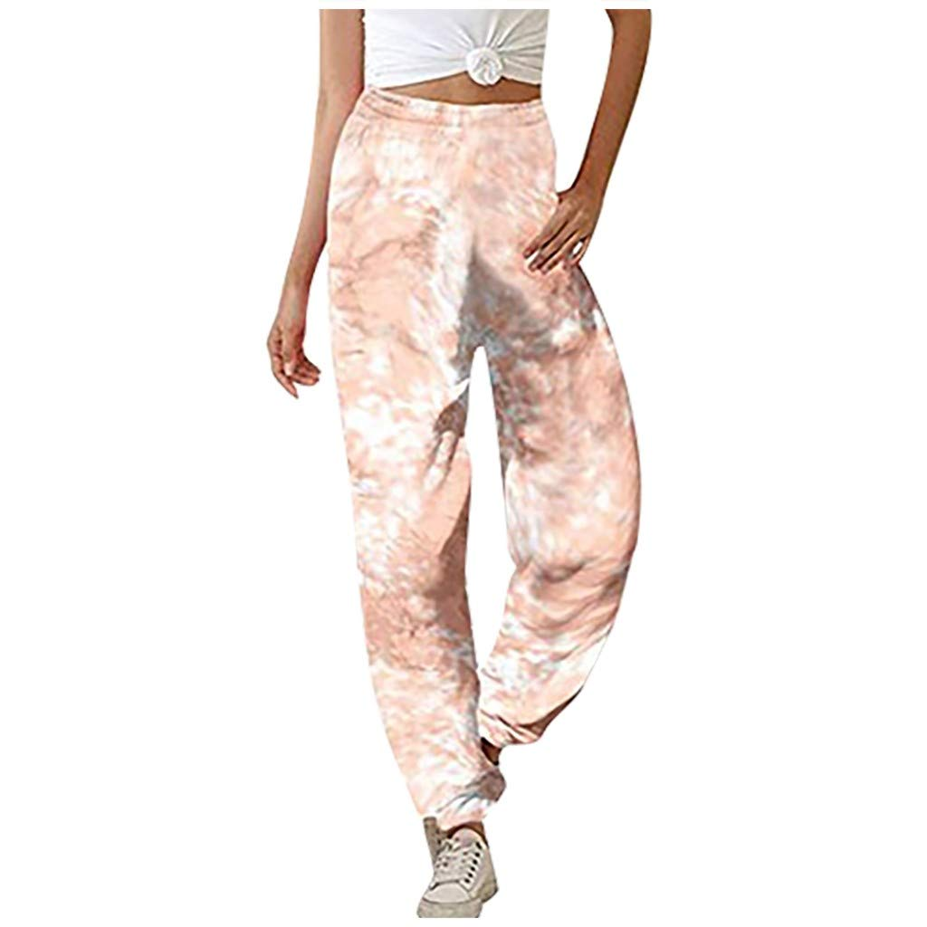 Hessimy Womens Athletic Yoga Lounge Pants Drawstring Waist Active Joggers Sweatpants with Pockets