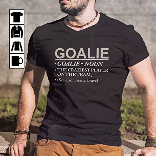 Hockey Goalie Craziest Player on Team Brave Insane T Shirt Long Sleeve Sweatshirt Hoodie Youth (Craziest Mens Hoodie)