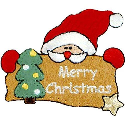 - Expo International Merry Christmas Santa Iron-on Applique Trim Embellishment, Multi-Color