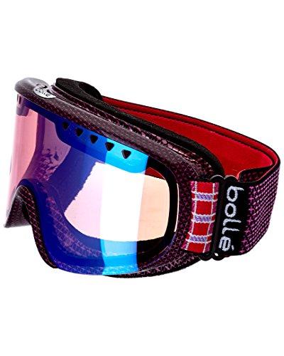Bolle Scarlett Modulator Goggles, Shiny Pink Plaid, Vermillion Blue - Bolle Sports Goggles