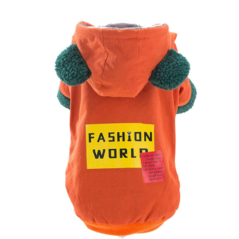 orange XL (for 5.5-6.5 kg) orange XL (for 5.5-6.5 kg) Dog Clothes Pet Dog Four-Legged Autumn and Winter Clothes Teddy Women Winter Thickening Small Dogs Xiong Bomeiji Doll New Thick Warm (color   orange, Size   XL (for 5.5-6.5 kg))