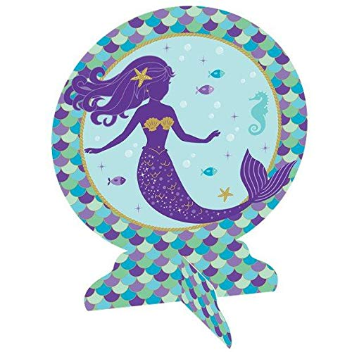 Amscan Mermaid Wishes 3‑D Table Centerpiece