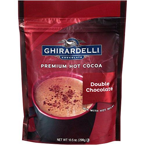 Ghirardelli Double Chocolate Premium Hot Cocoa, 10.5 ounce (Pack of 3) - Ghirardelli Double Chocolate