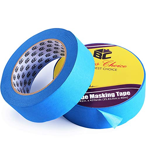 (Bates- Painters Tape, 1.4 inch Paint Tape, 2 Pack of Painter Tape, Painting Tape, Masking Tape, Blue Masking Tape, Painting Supplies, Wall Safe Tape, Paint Tape, Blue Painter Tape, Tape for Drop Cloth)