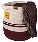 """Bambiso Cotton Rope Basket Woven Size 17""""x17"""" Baby"""