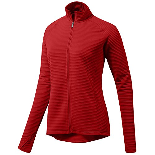 (adidas Golf Women's Essential Textured Jacket, Medium, Collegiate Red)