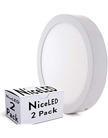 Greenice | Pack 2 Plafón LED Superficie Ø225Mm 18W 1190Lm 30.000H | Blanco Natural