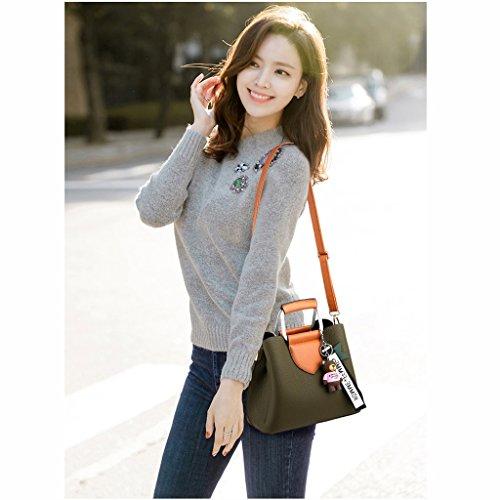 Simple Verde Portátil Moda la Verano Militar Señoras Coreana Messenger de Versión Bolsa de Bandolera de Las de P6Zwzx