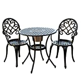 Cheap Great Quality Chestnut Street 3 Piece Outdoor Bistro Set with Ice Bucket, Intricate designs, Perfect Gathering Spot for Cocktail and Conversation + Free E- Book*