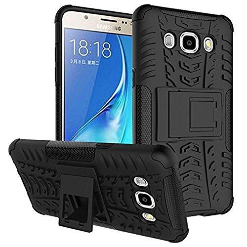 Shockproof Hybrid Case for Samsung Galaxy J5 (Black/Blue) - 6