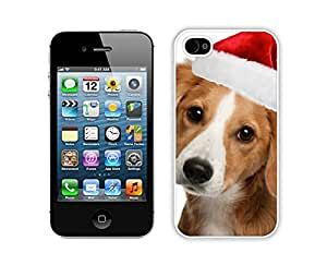 Popular Design Lovely Christmas Dog Iphone 4s,Apple Iphone 4s White TPU Cover Case