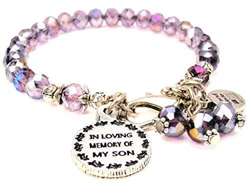 ChubbyChicoCharms Lavender Purple Crystal In Loving Memory Of My Son Bracelet