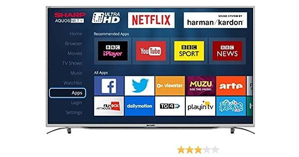 Sharp 55-h Ultra HD 4k led Smart TV con TDT HD, Silver: Amazon.es: Electrónica