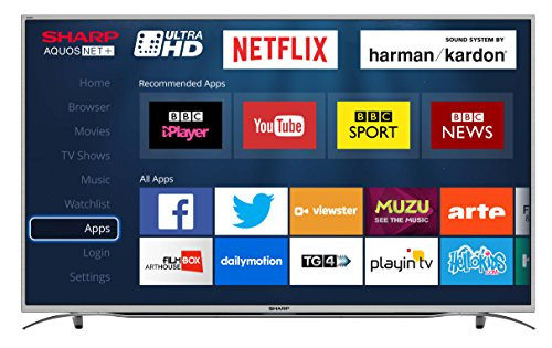 Sharp LC-55CUG8362KS 55-Inch Ultra HD 4K LED Smart TV with Freeview HD