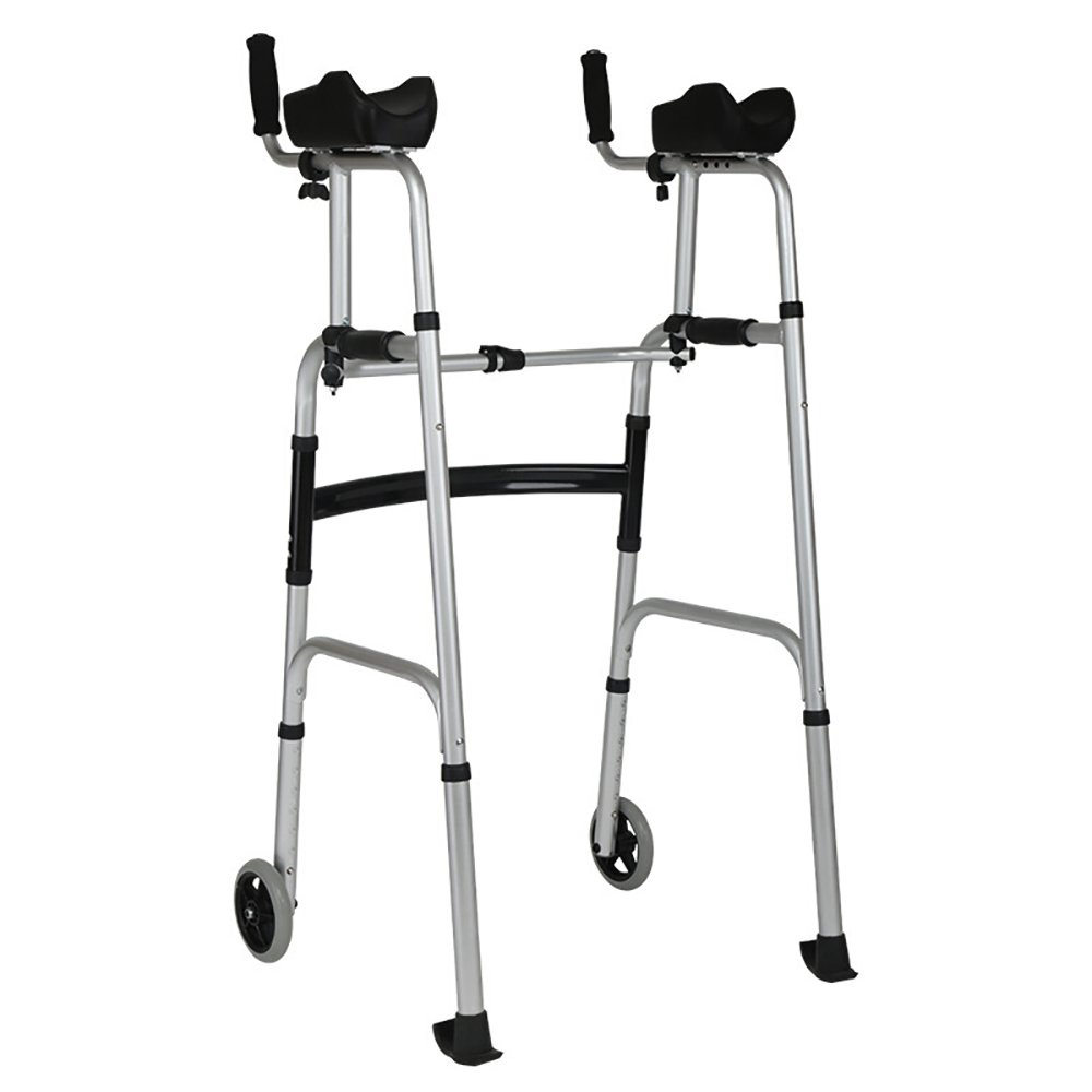 毎日 障害者のためのアルミニウム合金4足歩行器を渡した歩行者の老人と二輪車歩行者のリハビリ機器 B07D46VJBZ