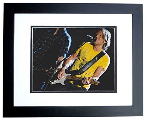 Keith Urban Autographed - Hand Signed Concert 8x10 Photo - American Idol Judge - Country Singer - BLACK CUSTOM Frame - Guaranteed to pass PSA or JSA -