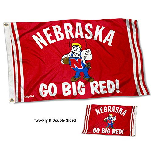College Flags and Banners Co. Nebraska Cornhuskers Vault Throwback Vintage Double Sided Flag