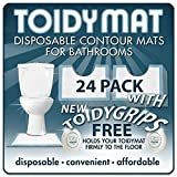 ToidyMat - (Incontinence Pads) 24 Disposable Contour Floor Mats for Bathrooms -