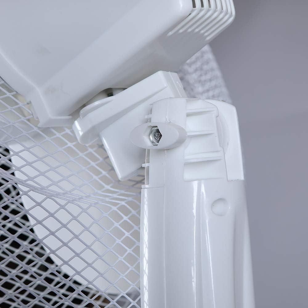 Standventilator wei/ß /Ø 40cm Ventilator 125cm Stehventilator 230V oszillierend L/üfter h/öhenverstellbar Zimmerventilator