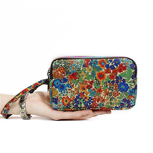 HUNGRE Women's Waterproof Smartphone Wristlets Bag ,Clutch Wallets Purses for iPhone 6 6S Plus / 7 / 7 Plus (Q55209)
