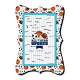 Big Dot of Happiness Go, Fight, Win - Sports - Unique Alternative Guest Book - Baby Shower or Birthday Party Signature Mat
