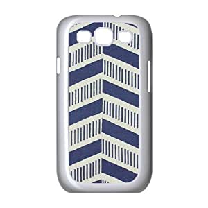 zig zag pattern aztec blue white Samsung Galaxy S3 Case White