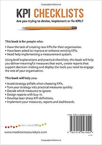 KPI Checklists: Bernie Smith: 9781910047002: Amazon.com: Books