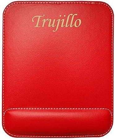 Almohadilla de cuero sintético de ratón personalizado con el texto: Trujillo (ciudad / asentamiento)
