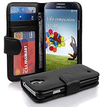 Cadorabo – Funda Estilo Libro para Samsung Galaxy S4 (i9500) – Case Cover Carcasa Funda con Tarjeta de 3 Compartimentos en óxido de Negro